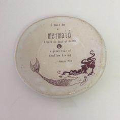 Ring Holder Jewelry Dish Annais Nin I Must by fullcirclegalleryfwb