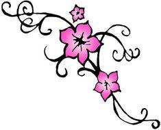 tribal cherry blossom tattoo