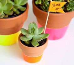 flower pots baby shower favors - Google Search #The Stationery Studio Big Plans Contest