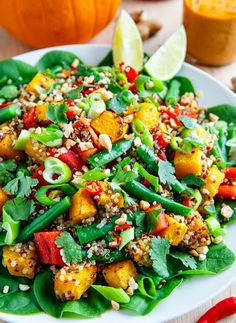 Low FODMAP Recipe and Gluten Free Recipe - Pumpkin & Quinoa Salad  http://www.ibssano.com/low_fodmap_recipe_pumpkin_quinoa_salad.html