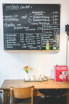 Mikkels menu board - Süsses Hamburg
