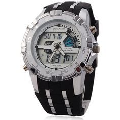 This watch is quartz sport watch, attractive combination of sport and technological charm, digital analog and quartz to guarantee durable and accurate time. Backlights display in dark, so that you can read the time in darkness or on night. As its alarm function, so it not only a watch can tell yo...
