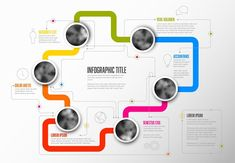 Infographic Template with circles by Orson on @creativemarket