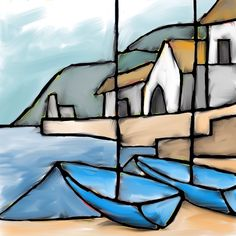Two Blue Boats - 2014 - Dave King