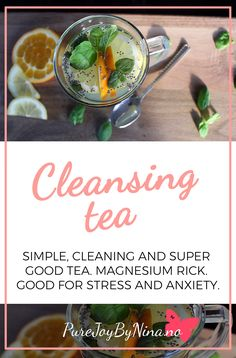 Recipe for delicious, simpel and easy detox tea. Tastes so good. And a great way to start the day with this. Also rich in magnesium thats good for anxiety and stress in the body Lactose Free, Dairy Free, Easy Detox, Best Tea, Group Meals, Omega 3, Detox Tea, Stress And Anxiety, Plant Based Recipes