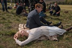 On the set of Parade's End.  Photo by Nick Briggs.