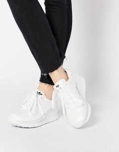 Image 1 of adidas Originals ZX 500 OG Retro White Sneakers