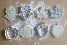 Fall Pack 3D Printed Cookie Cutters  Owl / by PrintandFlourish