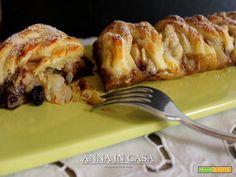 Intreccio pere e cioccolato - Ricetta Strudel, French Toast, Chicken, Fruit, Breakfast, Desserts, Recipes, Food, Dessert Ideas