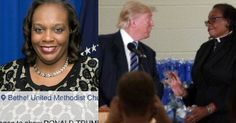 It's stated, in the link CLICK PHOTO, that she wanted Trump to know of intelligent, wise black citizens of *integrity* many of whom live right here in FLINT, MICHIGAN. Really? She didn't display intelligence nor integrity, she displayed a calculating, manipulating evil doer promoting the will of Obama to which God will pass judgment upon her preaching, her church and her congregation of hecklers. It is a sad day for what was done because she did a snake's bidding.