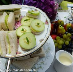 High Tea yummies for a private high tea for two, www.bluemountinai..., Blue Mountains Australia. Aussie High Tea.