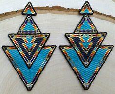 Amazing Egyptian beaded earrings