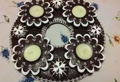 perníkový adventní věnec | recept Advent, Gingerbread, Decorative Plates, Sugar Art, 3, Essen, Drinking, Ginger Beard