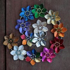 Simple Scale Flowers - Rainbow Chain by Ichi-Black.deviantart.com on @deviantART