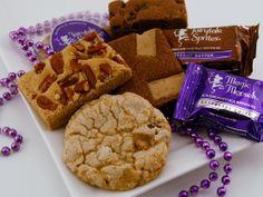 Fudge brownies, cookies and bars for Mardis Gras. brownies.com