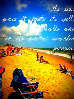 Bethany Beach, Delaware....This is where I saw the Atlantic Ocean for the first time.  The beach that shares my name.  Doesn't get more perfect than that.  My boyfriend at the time made such a romantic gesture by bringing me here.