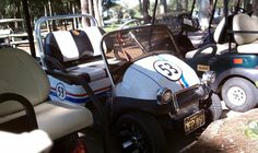 Herbie the Love Bug golf cart