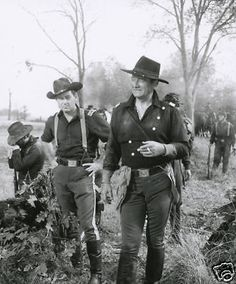"""Duke and William Holden on location with """"The Horse Soldiers"""" The Long Voyage Home, Westerns, The Quiet Man, Francois Truffaut, John Wayne Movies, John Ford, Orson Welles, Great Western, The Expendables"""