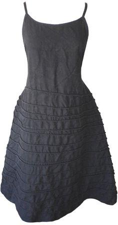 Krista Larson: Black linen Long Spring Slip