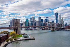 Vue sur le pont de Brooklyn et le Lower Manhattan