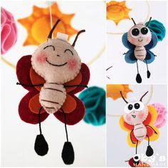 Felt Butterfly - Baby Mobile - Handmade - Nursery