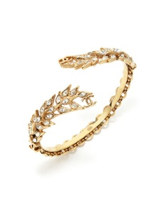 Chanel Gold & Crystal Leaf Bracelet by Vintage Handbags and Jewelry on Gilt