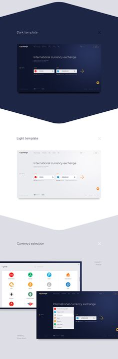 Free Currency exchange Web Designing Template Free Download (PSD)