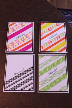 Washi tape - birthday cards  I've recently discovered washi tape and I'm loving it!