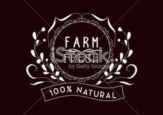 farm fresh Vintage frames and Floral Ornaments - Illustration