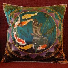 Sacred Pond Silk Pillow - by Nadean O'Brien from Mandalas on Silk