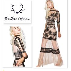 Nwt For Love And Lemons Desert Nights Maxi