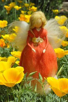 Wool Fairy needle felted fairy Waldorf fairy Waldorf by DemannaArt