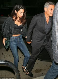 "Stud it up in a pair of wegdes like Amal  Click ""Visit"" to buy #DailyMail"