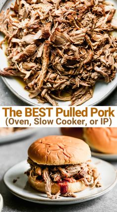 This easy Pulled Pork recipe is made with pork shoulder (or butt) pantry spices and coke to tenderize the meat and add sweetness to the seasonings. The result if perfect tender and juicy pork cooked in the oven slow cooker or instant pot! Pulled Pork Oven, Making Pulled Pork, Pulled Pork Recipes, Crock Pot Pulled Pork Recipe With Coke, Slow Cooker Pulled Pork Recipe, Pulled Pork Instant Pot Recipe, Pulled Pork Seasoning, Pull Pork, Salads