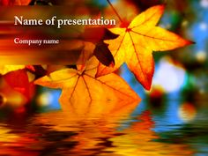 Maple Leaf PowerPoint template