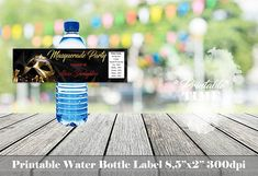 Masquerade water bottle label Masquerade bottle label