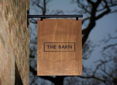 The Barn Restaurant Branding - Grits + GridsGrits + Grids The Barn Restaurant, Restaurant Signage, Retail Signage, Wayfinding Signage, Signage Design, Cafe Design, Cafe Signage, Outdoor Signage, Wooden Signage
