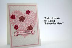 Hochzeitskarte basteln**Thinlits Blühendes Herz**Tutorial HD