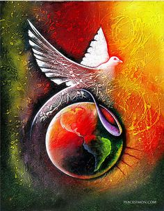 Peaceful world Poster by Peace Simon. All posters are professionally printed, packaged, and shipped within 3 - 4 business days. Choose from multiple sizes and hundreds of frame and mat options. Peace Art, Peace Dove, Peace Poster, All Poster, Posters, Peace On Earth, World Peace, Santa Paloma, Love And Light