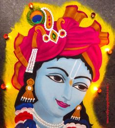 50 Most Beautiful Face Rangoli Design (ideas) that you can make during any occasion on the living room or courtyard floors. Easy Rangoli Designs Videos, Easy Rangoli Designs Diwali, Rangoli Designs Latest, Simple Rangoli Designs Images, Rangoli Designs Flower, Free Hand Rangoli Design, Rangoli Patterns, Colorful Rangoli Designs, Rangoli Ideas