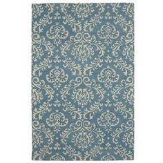 Chiti Damask Rug – 8x10 Blue