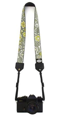 Basic Camera Strap: Gray & Mustard $20.95