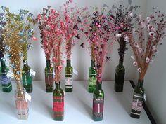 Garrafa de Vidro e Renda Blogger Templates, Bottle Crafts, Baby Shower Decorations, Wordpress Theme, Origami, Glass Vase, Girly, Diy Crafts, Crafty