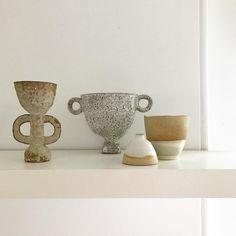 céramique : coupes, bols, beige