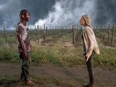 """On last week's episode of """"Fear the Walking Dead"""" we witnessed the attack of the Zombie Altar boys and we watched as Strand's lover, Thomas, dies from a walker bite. … Continue reading Fear the Walking Dead Shiva Walker The Walking Dead, Walking Dead Tv Series, Walking Dead Season, The Walk Dead, Draw On Photos, 2 Photos, Billy Joel, Zombie Apocalypse, Zombie Zombie"""