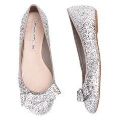 Sapatilha glitter laço » Tendência: Glitter & Paetê - OQVestir