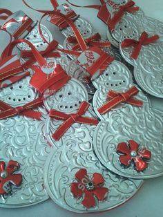 aluminum embossed xmas tree decorations - Google Search