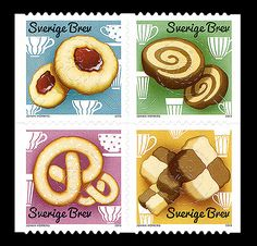 "The stamp issue Cookies, felt both contemporary and attractive - a stamp should be eye candy! And there should be a reason behind it. Cookies are decorative and, as mentioned, trendy. A marker of time; I like stamps that capture current events"". #sweden #stamps #cookies  Find out more on the below mentioned link: http://www.wopa-stamps.com/index.php?controller=country&action=stampProduct&id=9438"