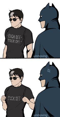 Gotham Batman, Batman Robin, Marvel Dc Comics, Tim Drake, Dc Memes, Funny Memes, Batfamily Funny, Batman Quotes, Red Hood Jason Todd