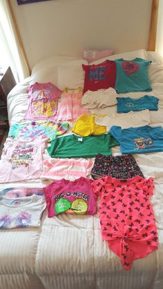 Lot Size 6 Girls T-shirts and Shorts LOT of 17 Size 6, Shorts, Summer Spring #Justice #Everyday
